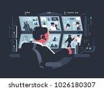 security service worker... | Shutterstock .eps vector #1026180307