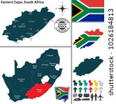 vector map of eastern cape... | Shutterstock .eps vector #1026184813