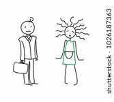 stick figure. happy family.... | Shutterstock .eps vector #1026187363