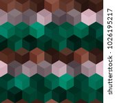 hexagon grid seamless vector... | Shutterstock .eps vector #1026195217