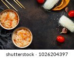 funchoza salad with rice...   Shutterstock . vector #1026204397