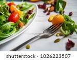 organic fresh summer clementine ... | Shutterstock . vector #1026223507