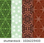 decorative oriental pattern set.... | Shutterstock .eps vector #1026225433