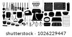 set of isolated baking stuff in ... | Shutterstock .eps vector #1026229447