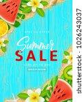 beautiful promo flyer for... | Shutterstock .eps vector #1026243037