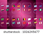 vector flags of the country.... | Shutterstock .eps vector #1026245677