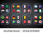 vector flags of the country.... | Shutterstock .eps vector #1026245683