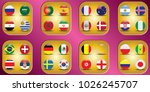 vector flags of the country.... | Shutterstock .eps vector #1026245707