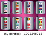 vector flags of the country.... | Shutterstock .eps vector #1026245713