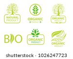 set of green design elements... | Shutterstock . vector #1026247723