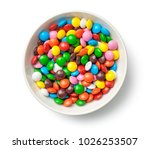 colorful chocolate candy pills... | Shutterstock . vector #1026253507