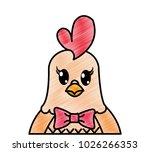 grated adorable hen cute animal ... | Shutterstock .eps vector #1026266353