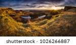 amazing sunrise with colorful... | Shutterstock . vector #1026266887