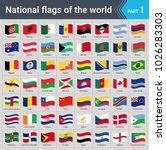 waving flags of the world.... | Shutterstock .eps vector #1026283303