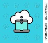 set of cloud icons. vector... | Shutterstock .eps vector #1026295063