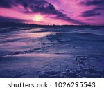 violet and colorful winter... | Shutterstock . vector #1026295543