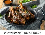 homemade braised lamb shanks... | Shutterstock . vector #1026310627