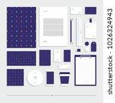corporate identity  stationery... | Shutterstock .eps vector #1026324943