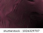 wavy stripes. trendy curve... | Shutterstock .eps vector #1026329707
