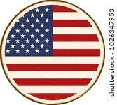 vintage metal sign   round... | Shutterstock .eps vector #1026347953