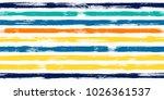 trendy watercolor brush stripes ... | Shutterstock .eps vector #1026361537