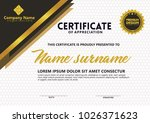 certificate template with...   Shutterstock .eps vector #1026371623