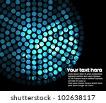 Abstract background with blue lights - stock vector