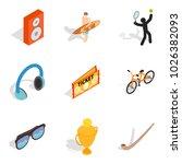 entertainment program icons set.... | Shutterstock .eps vector #1026382093