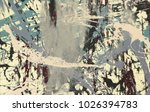 abstract painting. ink handmade ... | Shutterstock . vector #1026394783