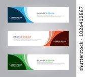 abstract modern banner... | Shutterstock .eps vector #1026412867