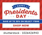 president's dale sale shop sign ... | Shutterstock .eps vector #1026426943