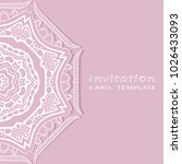 invitation or card template... | Shutterstock .eps vector #1026433093