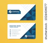 blue geometric business card...   Shutterstock .eps vector #1026434077