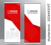 roll up business brochure... | Shutterstock .eps vector #1026443197