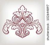 vector vintage baroque damask ... | Shutterstock .eps vector #102644897