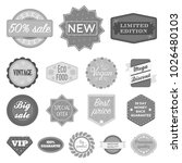different label monochrome... | Shutterstock . vector #1026480103