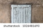 old wooden plank door with... | Shutterstock . vector #1026481693