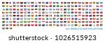 all world countries flags... | Shutterstock .eps vector #1026515923