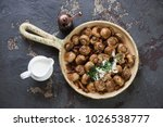 frying pan with roasted... | Shutterstock . vector #1026538777