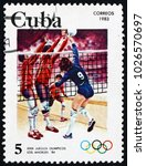 cuba   circa 1983  a stamp... | Shutterstock . vector #1026570697