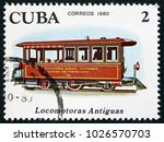 cuba   circa 1980  a stamp... | Shutterstock . vector #1026570703