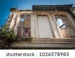 background of old damaged...   Shutterstock . vector #1026578983