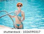 portrait of a beautiful woman... | Shutterstock . vector #1026590317