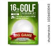 golf poster vector. design for... | Shutterstock .eps vector #1026603043