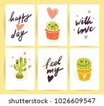 vector collection of flat cute... | Shutterstock .eps vector #1026609547
