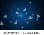 abstract internet connection... | Shutterstock .eps vector #1026611263