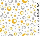 trendy dot seamless pattern... | Shutterstock .eps vector #1026621943