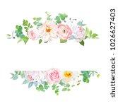 horisontal botanical vector... | Shutterstock .eps vector #1026627403