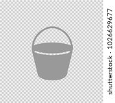 bucket vector icon eps 10.... | Shutterstock .eps vector #1026629677