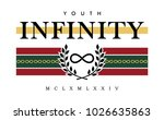 nfinity writing typography ... | Shutterstock .eps vector #1026635863